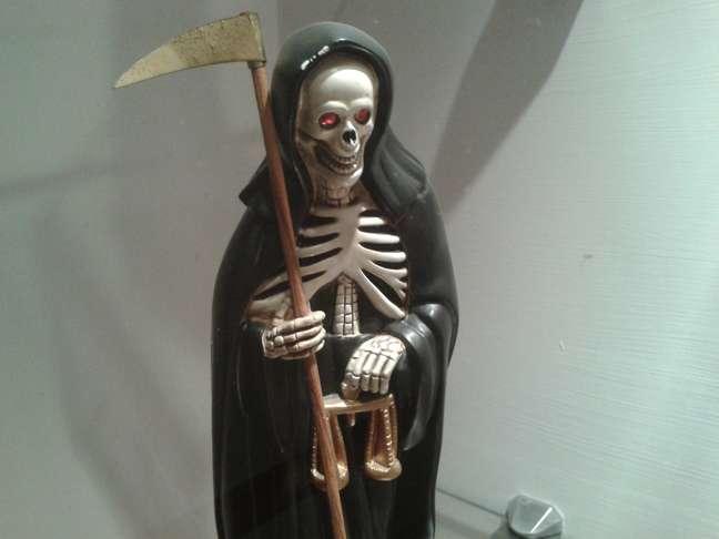 Uma das obras de arte que fazem parte do acervo do Museu Nacional da Morte, em Aguascalientes, no México