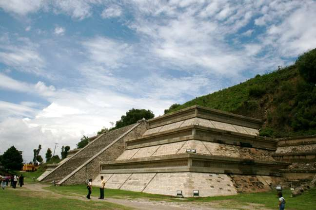 Uma das partes visíveis da Grande Pirâmide de Cholula, considerada pelo Livro Guinness dos Recordes o maior monumento já construído