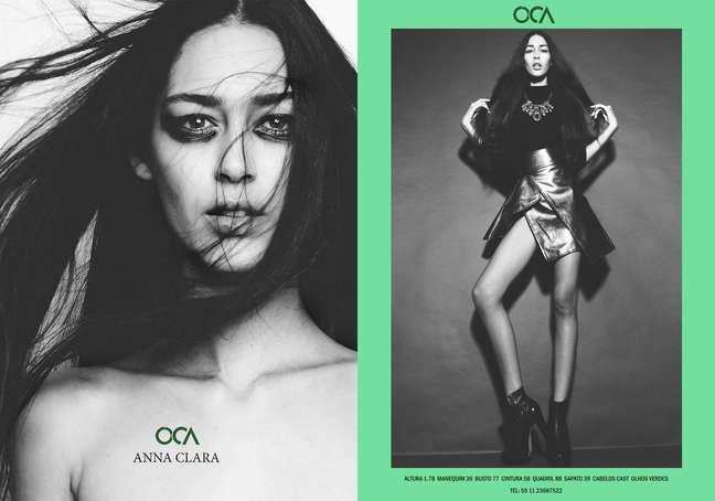 <p>Anna Clara, de 16 anos, é de Natal, Rio Grande do Norte. Tem 1,78 m, cabelos castanhos e olhos verdes. É agenciada pela Oca Models</p>