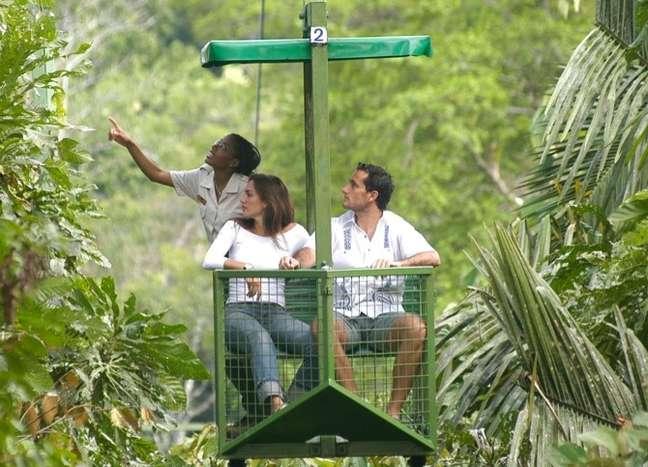 O passeio de teleférico sobre a floresta de Gamboa é uma das principais atrações no entorno da Cidade do Panamá