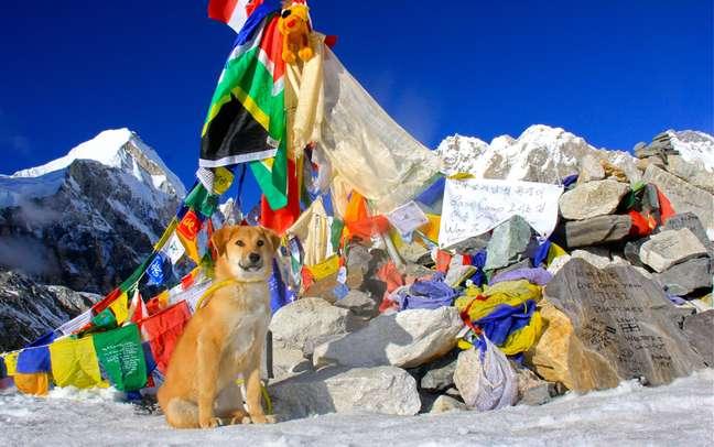 Rupee no acampamento base do Everest no Nepal