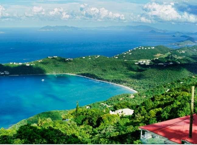 Drakess Seat fica localizado junto a Magens Bay, uma baía de Saint Thomas famosa pelas areias brancas de suas praias