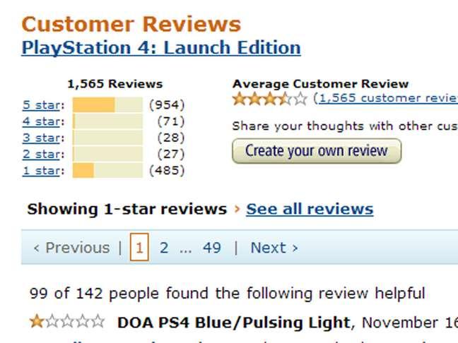 Imagem mostra outra versão do PS4 e suas avaliações