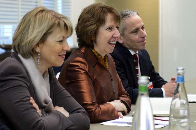 A chefe da diplomacia europeia, Catherine Ashton, confirmou o acordo sobre o programa nuclear iraniano