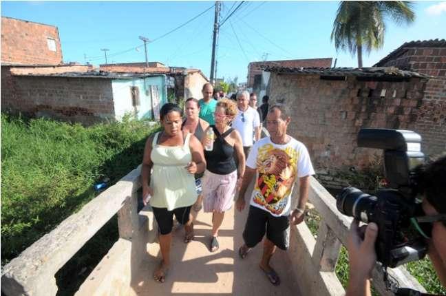 Raquel Rolnik conversou com moradores de duas comunidades antes da audiência