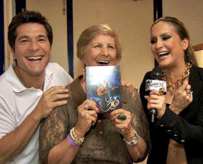 Daniel, Maria Creuza e Claudia Leitte se divertiram no camarim