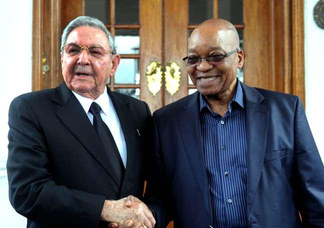 Em Pretória, Castro também se reuniu com o presidente Zuma