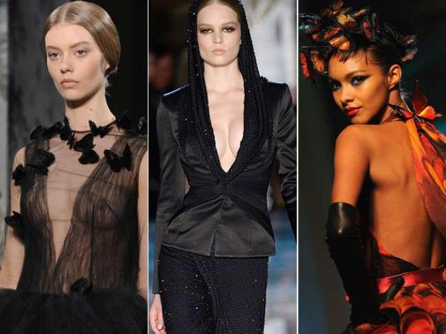 <p>A semana de alta-costura de Paris se encerra nesta quinta-feira (23)com algumas surpresas:Chanel misturou tênis com alta-costura e uma modelo desfilou fumando na passarela de Jean Paul Gaultier. Mesmo assim, as maiores extravagâncias ainda ficaram para as roupas ousadas dos estilistas</p>