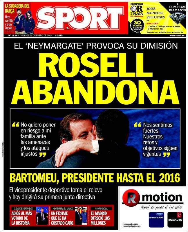<b>Sport</b><br>Neymargate provoca renúncia: Rosell abandona