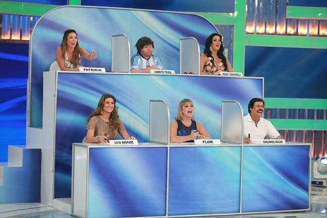 Silvio Santos brincou com a filha em seu programa