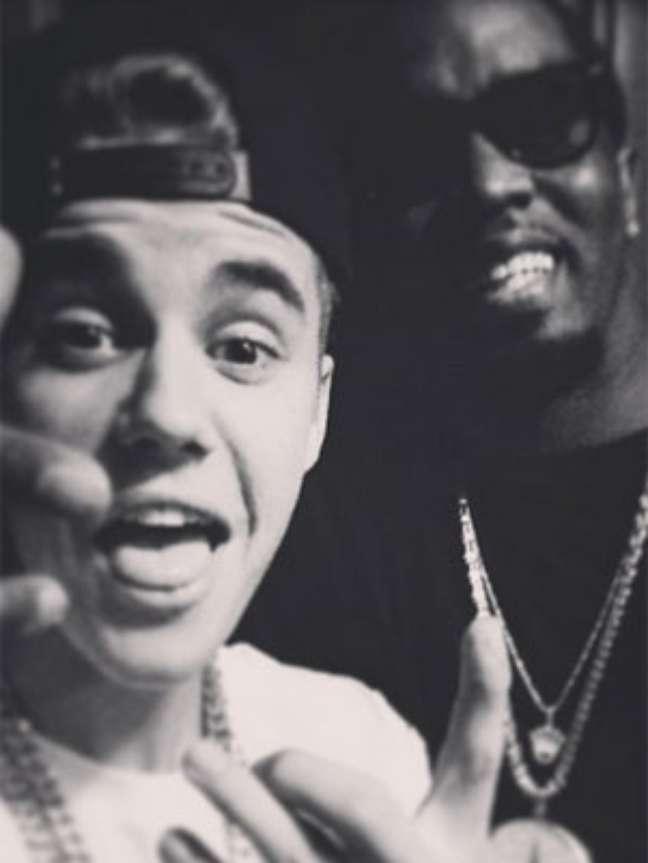 Astro ao lado do rapper P. Diddy na semana passada