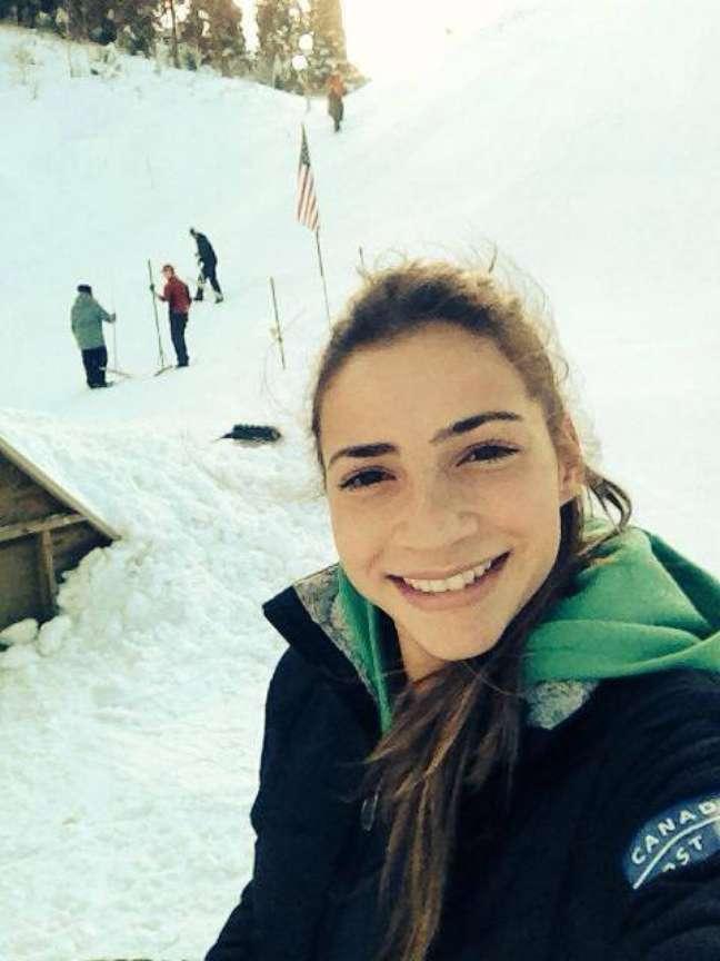 <p>Laís Souza sofreu acidente em treinos para Jogos de Inverno</p>