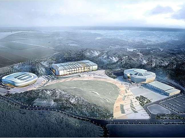 <p>O Completo Esportivo de Gangneung reuniu os ginásios de hóquei, curling e patinação</p>