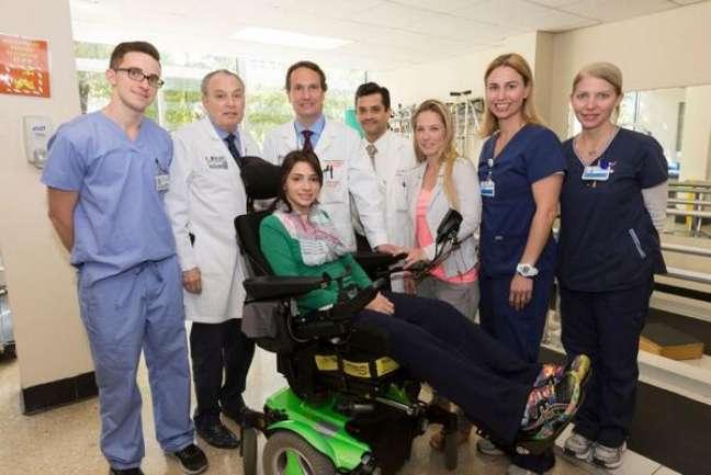 Laís Souza está em recuperação no Jackson Memorial Hospital