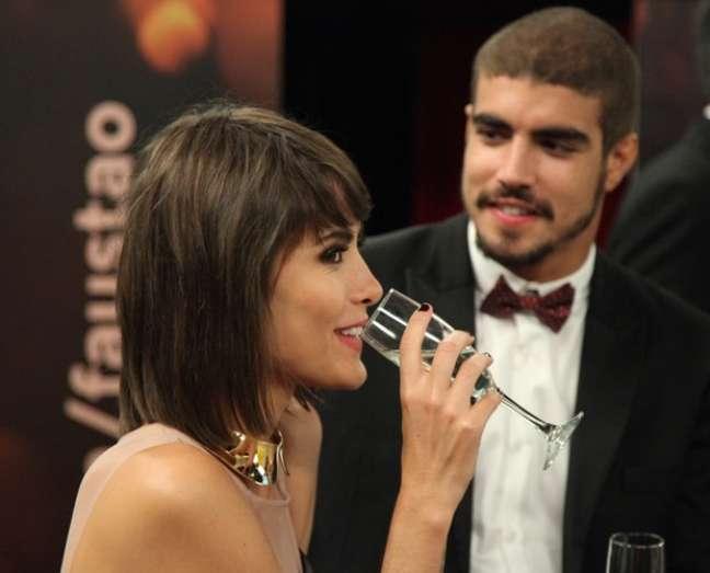 <p>Faustão falou sobre possível casamento de Caio Castro e Maria Casadevall</p>