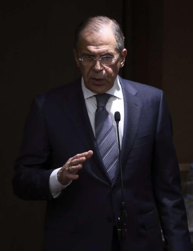 <p>O chanceler russo, Sergei Lavrov, fala com deputados na Duma, câmara baixa do Parlamento russo, em Moscou, nesta quinta-feira, 20 de março</p>