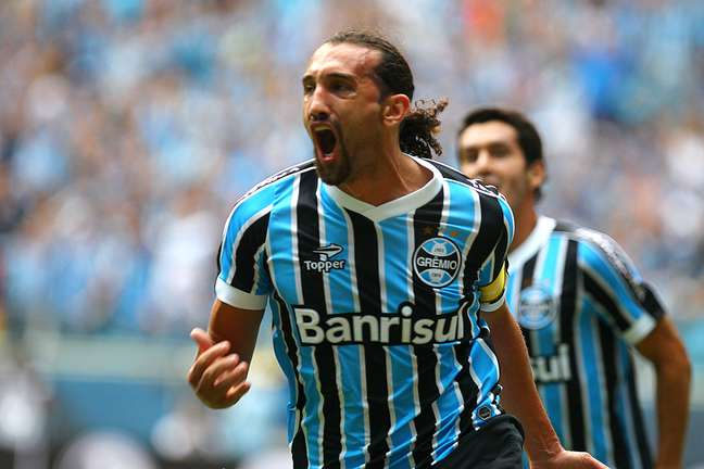 Barcos comemora gol do Grêmio
