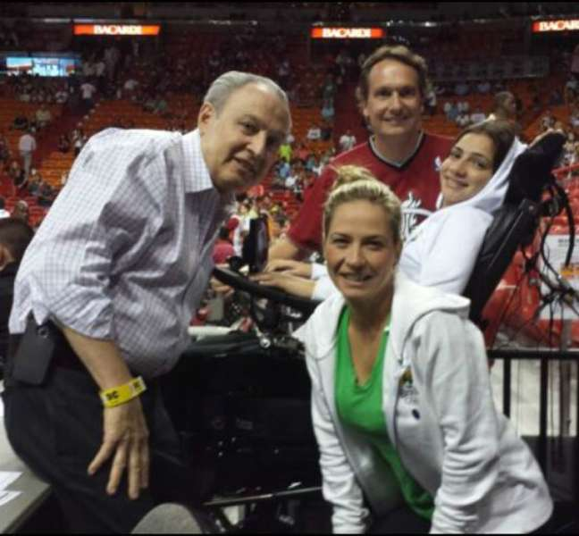 <p>Na última semana, Laís foi a um jogo de basquete em Miami</p>