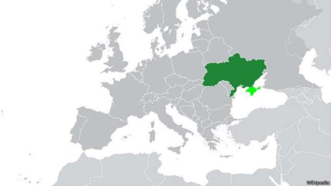 Localizada na Europa Oriental, Ucrânia foi apontada por alguns americanos como fazendo parte dos Estados Unidos