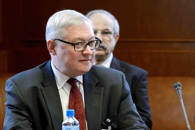 <p>O vice-ministro das Rela&ccedil;&otilde;es Exteriores da R&uacute;ssia, Sergei Ryabkov, na sede das Na&ccedil;&otilde;es Unidas em Genebra, em 15 de outubro de 2013</p>