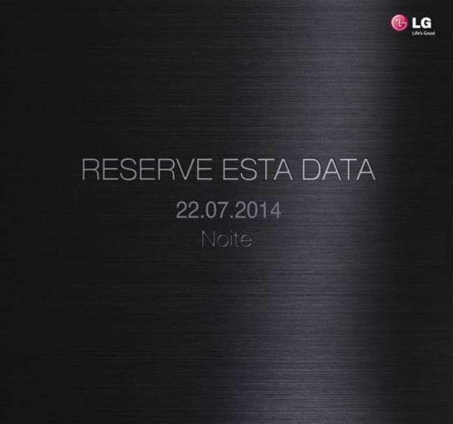 Convite da LG enviado à imprensa brasileira para reservar a data