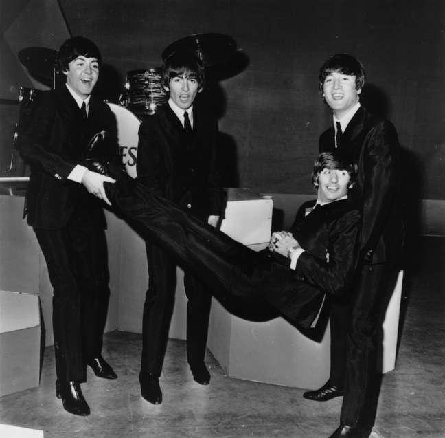 Ringo Starr e os Beatles em 1964