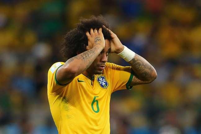 <p>Marcelo volta a ganhar uma chance com o treinador Dunga na Sele&ccedil;&atilde;o</p>