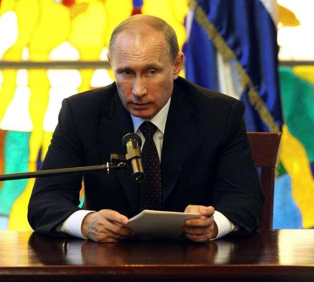 <p>Nesta sexta-feira, Putin foi para Cuba</p>