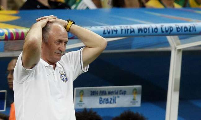 <p>Técnico Luiz Felipe Scolari teve desastre com Brasil</p>