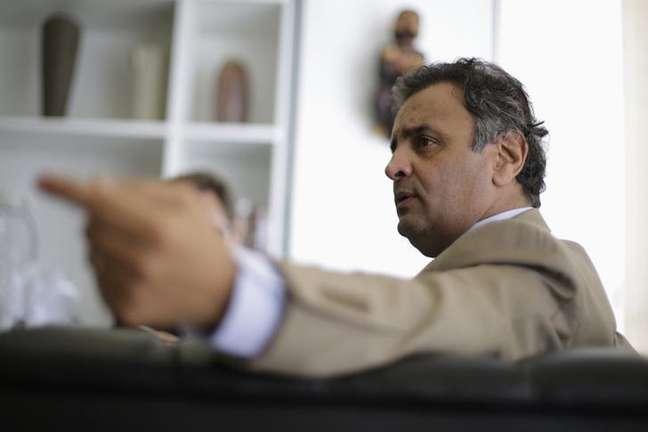O candidato do PSDB à Presidência da República, Aécio Neves, em foto de abril de 2014 em Brasília.