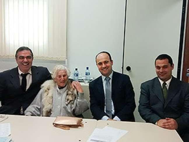 <p>Dona Chames participou de audiências no fórum de Ipatinga</p>