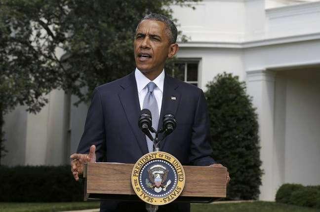 U.S. President Barack Obama speaks about Ukraine at the White House in Washington, July 21, 2014.