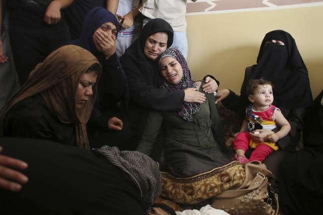Mortos palestinos são maioria durante os dias de conflitos