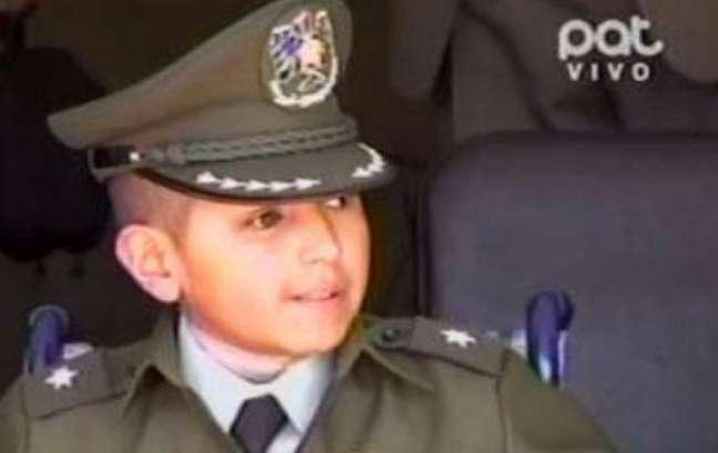 <p>O sonho de Rilver Aramayo Quiroga é ser um policial para defender a sociedade</p>