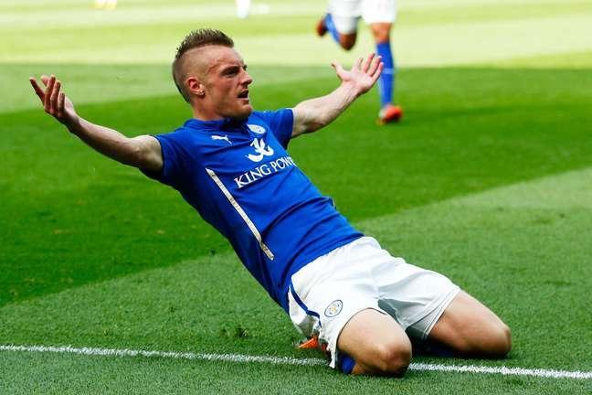 Jamie Vardy foi um destaques da campanha heroica do Leicester