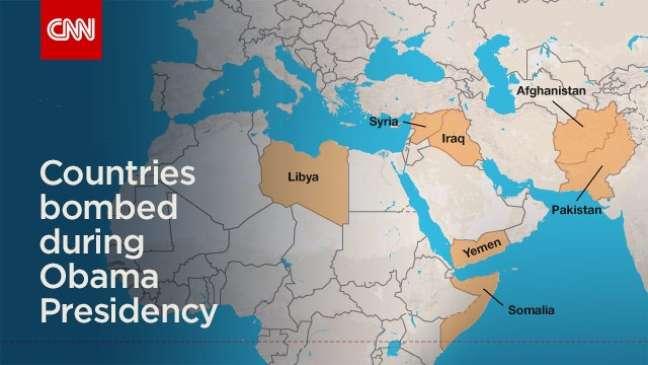 Sete países muçulmanos foram atacados pelos EUA na era Obama