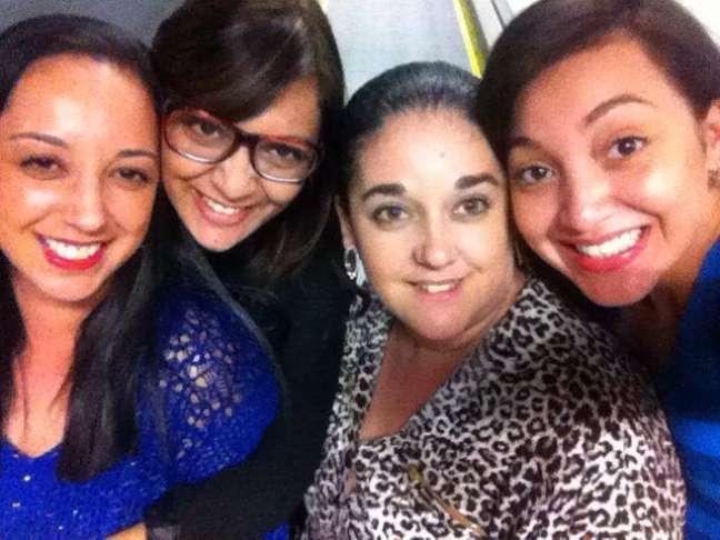<p>Rosangela, Tatiane, Adriana e Beatriz (da esquerda para a direita)foram viajar para os EUA pela primeira vez neste mês de setembro</p>