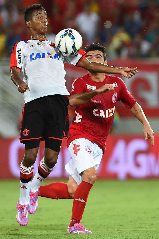 Gabriel abriu o placar para o Flamengo