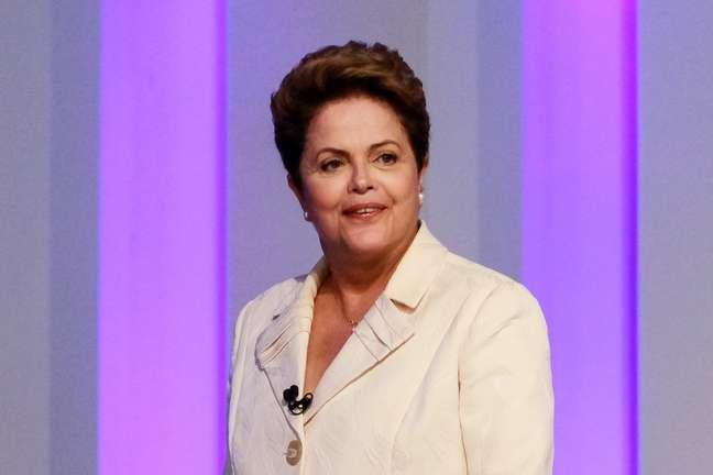 <p>Presidente Dilma Rousseff durante debate da TV Globo</p>