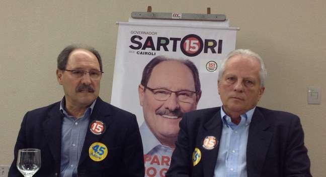 <p>Jos&eacute; Ivo Sartori e o seu vice, Jos&eacute; Paulo Cairoli</p>