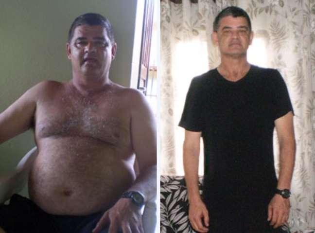 <p>Luiz Carlos perdeu 23 quiloscom caminhadas diárias e exercícios físicos</p>