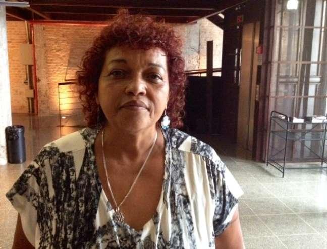 A ativista Débora Maria da Silva, coordenadora do movimento Mães de Maio, durante evento na PUC-SP