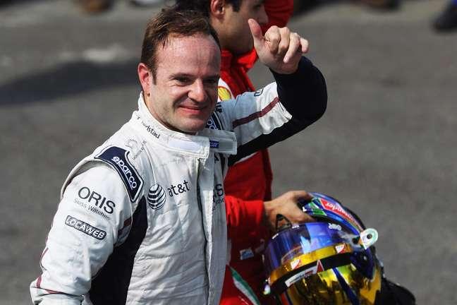 <p>Última prova de Rubinho na F1 foi em novembro de 2011, no Brasil</p>