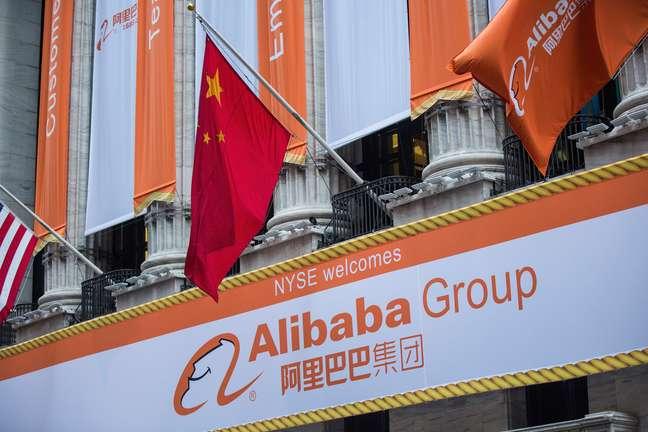 <p>O Alibaba já podeser considerada uma das dez maiores ações negociadas nos Estados Unidos</p>