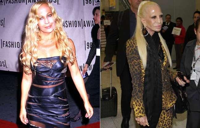 <p>A estilista em 1999 e depois em 2014</p>