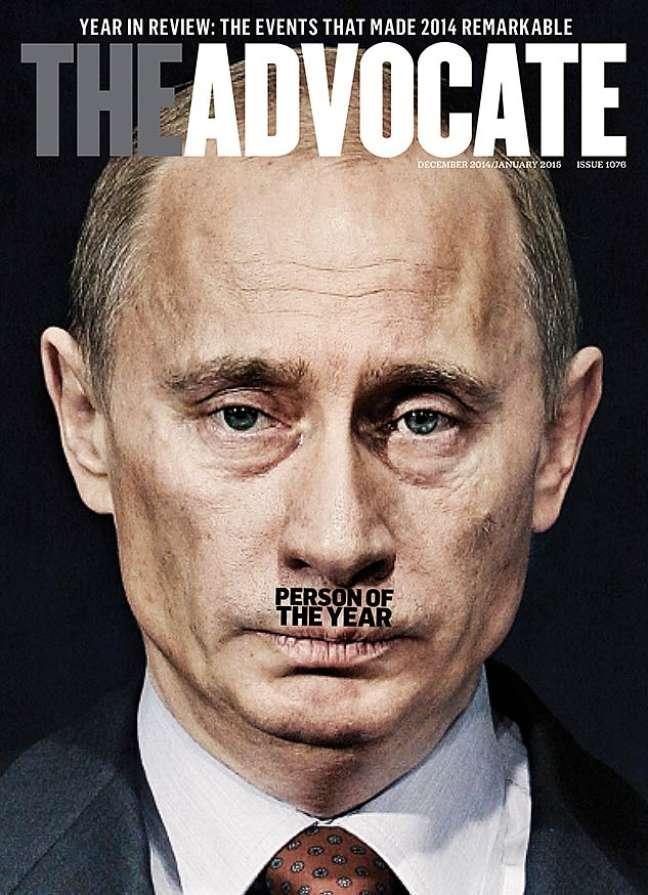 <p>Capa da edição de dezembro da revista The Advocate</p>