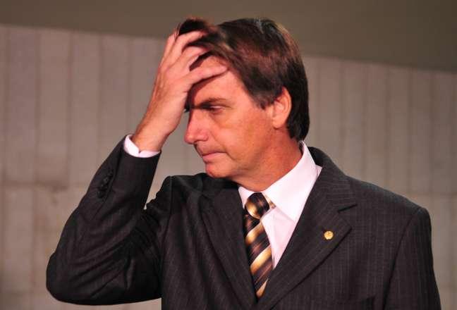Deputado Jair Bolsonaro no Congresso