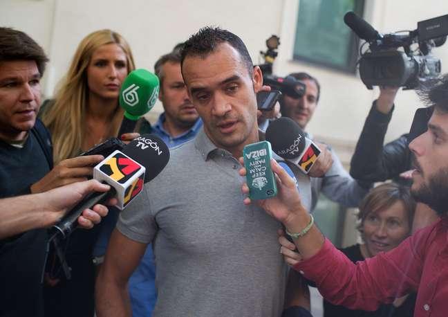 <p>Juanfran Garcia, na &eacute;poca no Levante, d&aacute; depoimento sobre o caso em outubro; suspeita envolve 41 pessoas</p>