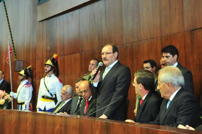 Sartori durante a posse na Assembleia Legislativa do RS