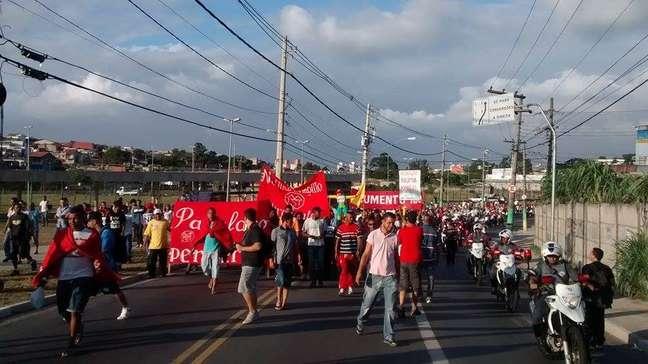 'Panelaço' do MTST em Itaquera, SP, nesta quinta-feira, 22 de janeiro